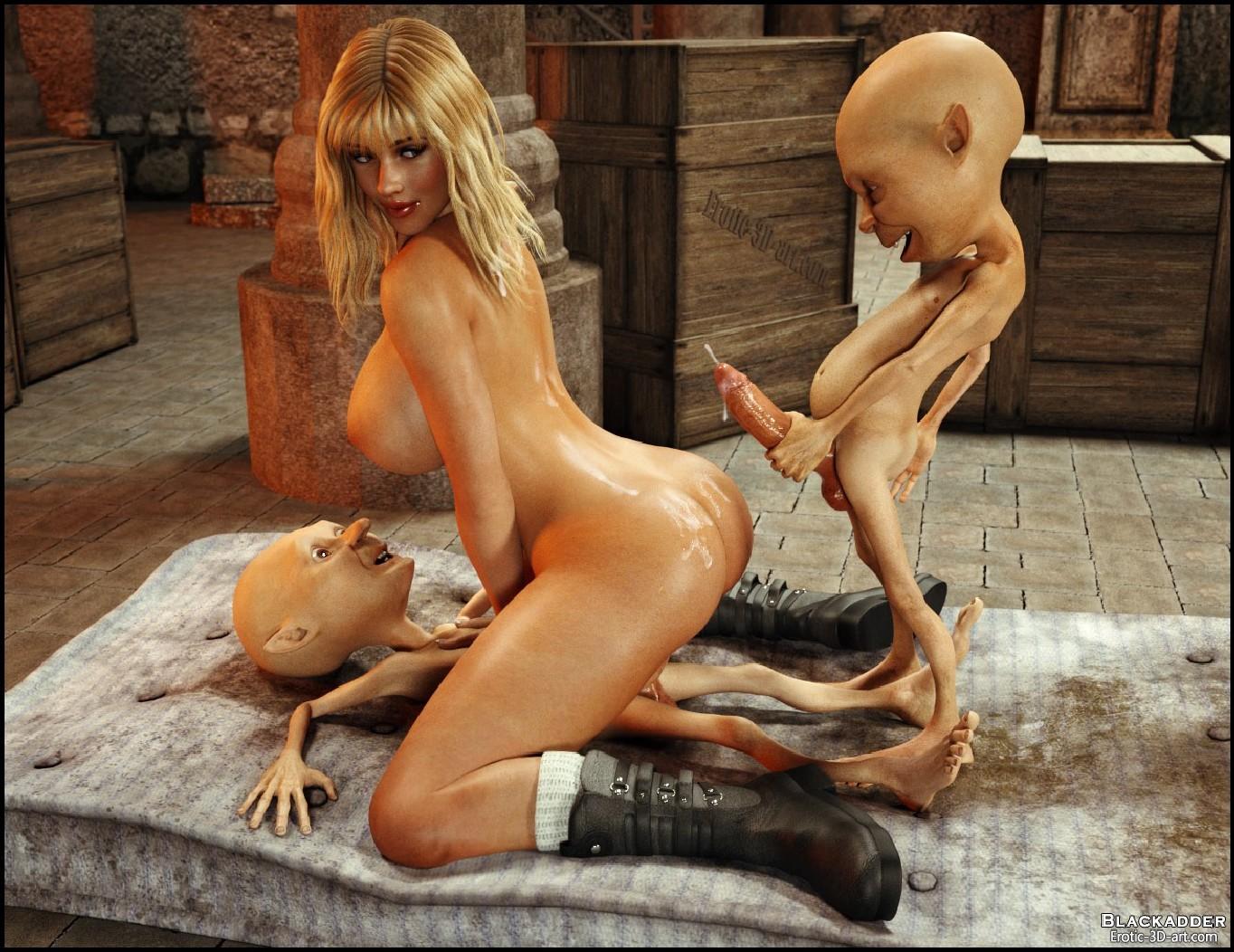 Скачать Порно 3d Блондинка И Монстры