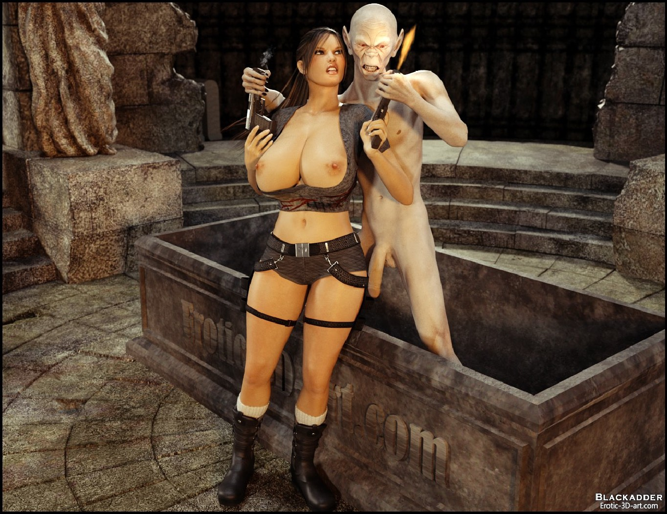 Tomb rider vs monster sex hentai videos