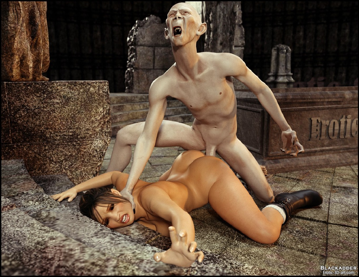 3d monster xxx lara croft sex image