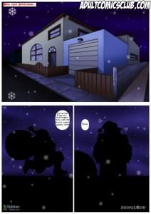 Рождественский комикс о пошлой девушке и ее сексуальных мечтах. [5]
