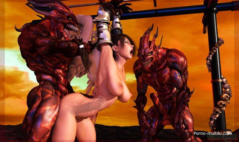 Секс фото с демоном