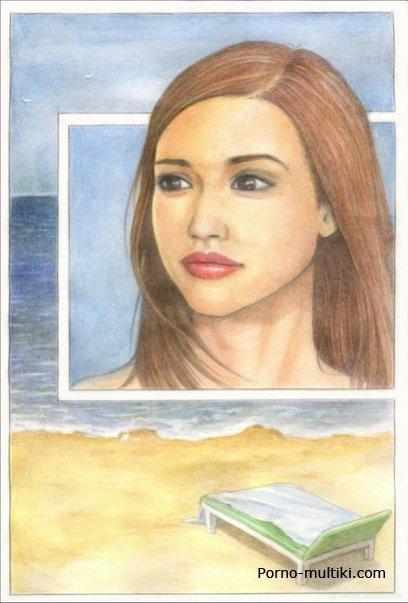 Джессика альба в рисованном порно