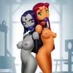 1371929-DC-DCAU-Drew_Gardner-Raven-Starfire-Teen_Titans
