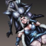 1215923 - DOTA_2 Drow_Ranger Rylai_the_Crystal_Maiden