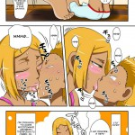 С племянником и сыном в одной кровати - порно комикс (10)