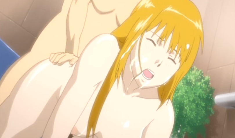 Hentai blondie gets fucked in the bath