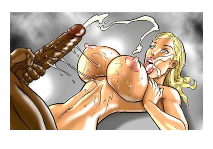 Порно комикс, Дженни Саммерс, член, блондинка, секс