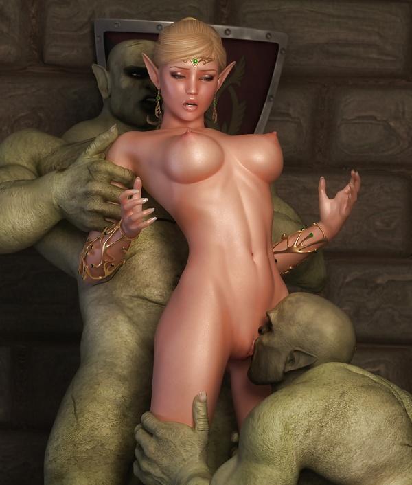 Порно эльфийка монстры